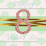 Happy Women Day. Violet 8 March. papercut multi layered abstract background. Happy Womens Day. Violet 8 March. Trendy Mother s Day. Paper cut Floral Greeting Stock Photography