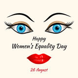 Happy Womens Equality Day Stock Photo