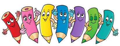 Free Happy Wooden Crayons Theme Image 1 Stock Photography - 161268842
