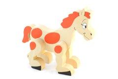 Happy wooden horse Royalty Free Stock Photo