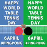 Happy Word Table Tennis Day Royalty Free Stock Photo
