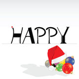 Happy word to new year background Royalty Free Stock Photo
