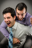 Happy at Work Stock Photos