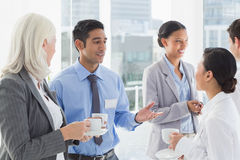 Happy work team during break time Stock Images