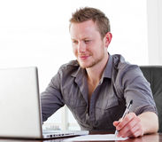 Happy worker Royalty Free Stock Photos