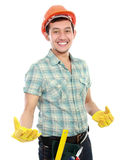 Happy worker Royalty Free Stock Photo