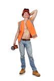 Happy worker man Stock Photo
