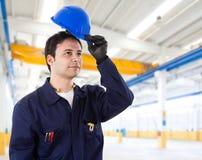 Happy worker portrait Royalty Free Stock Image