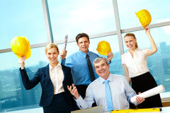 Happy workers Stock Photography