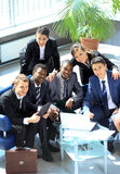 Happy working business team Royalty Free Stock Photos