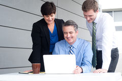 Happy working business team in modern office Stock Image
