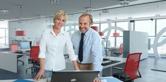 Happy Working pair royalty free stock image