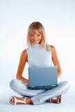 Happy working woman Royalty Free Stock Images