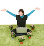 Happy working woman Stock Photography