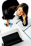 Happy working woman Royalty Free Stock Image