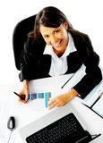 Happy working woman Stock Images