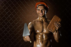 Happy workman Royalty Free Stock Photography