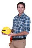 Happy workman Royalty Free Stock Image