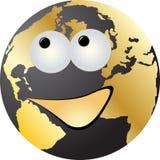 Happy world globe. Isolated on white background vector illustration Royalty Free Stock Photography