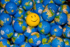 Happy World Golfballs Royalty Free Stock Images