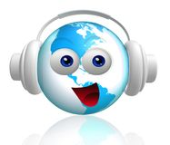 Happy world icon character Royalty Free Stock Images