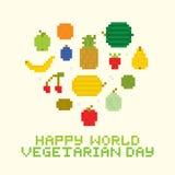 Happy world vegetarian day Stock Photos
