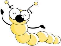Happy Worm cartoon  Stock Photos