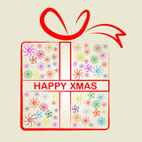 Happy Xmas Indicates Merry Christmas And Celebrate Stock Images