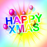 Happy Xmas Represents Merry Christmas And Celebration Stock Images