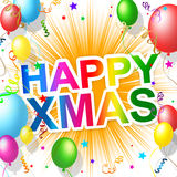 Happy Xmas Shows Christmas Greeting And Celebrations Stock Photography