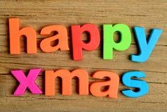 Happy Xmas word Stock Photo