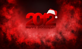Happy year 2012 doomsday. Red abstract background Stock Photo