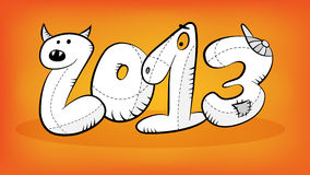 Happy year 2013. Greeting concept Vector Illustration