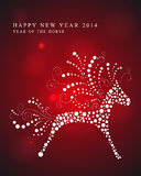 Happy Year of the Horse card. 2014 Chinese New Year of the Horse red light background illustration. EPS10 vector file with transparency layers Royalty Free Stock Photo