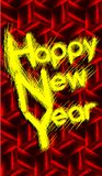 Happy year illustration in red tones. Image usable in all projects about new year's day stock illustration