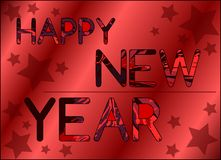 Colorful Happy new year background Royalty Free Stock Image