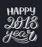 Happy 2018 year lettering Stock Photography