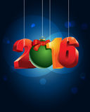 Happy 2016 year. New Year greeting card  illustration Royalty Free Stock Images
