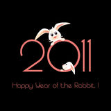 Happy Year of the Rabbit greeting card Stock Photo