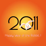 Happy Year of the Rabbit greeting card Stock Photography