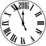 Happy 2016 year. Vintage clock Royalty Free Stock Photos