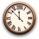 Happy 2016 year. Vintage clock Stock Image