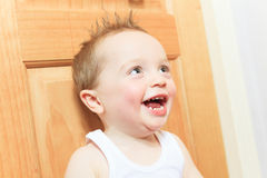 Happy 2 years old baby boy. Kid is smiling Royalty Free Stock Image
