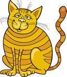 Happy Yellow Cat. Cartoon illustration of Happy Yellow Cat Stock Image