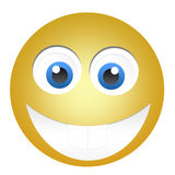 Happy yellow emoticon Royalty Free Stock Images