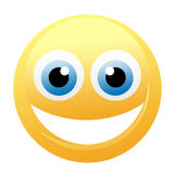 Happy yellow emoticon Royalty Free Stock Photo