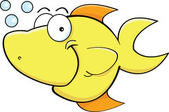Happy yellow fish Royalty Free Stock Photo