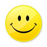 Happy yellow smile face stock photos