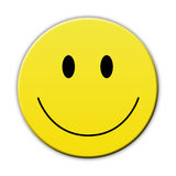 Happy yellow smile face Royalty Free Stock Photo