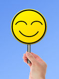 Happy yellow smile face Stock Images